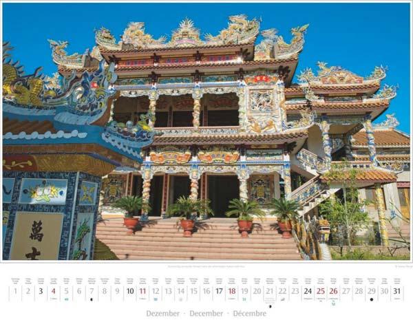 Monat Dezember im Vietnam Kalender 2016 | Aufwendig verzierter Tempel nahe Hue | Foto Mario Weigt | Verlagshaus Würzburg/Stürtz