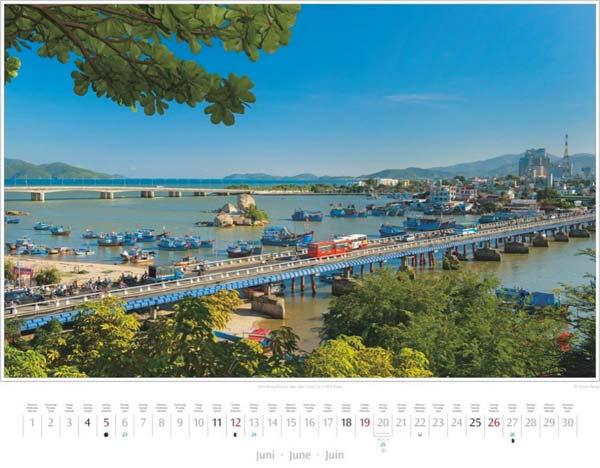 Monat Juni im Vietnam Kalender 2016 | Xom-Bong-Brücke in Nha Trang | Fotos Mario Weigt | Verlagshaus Würzburg/Stürtz