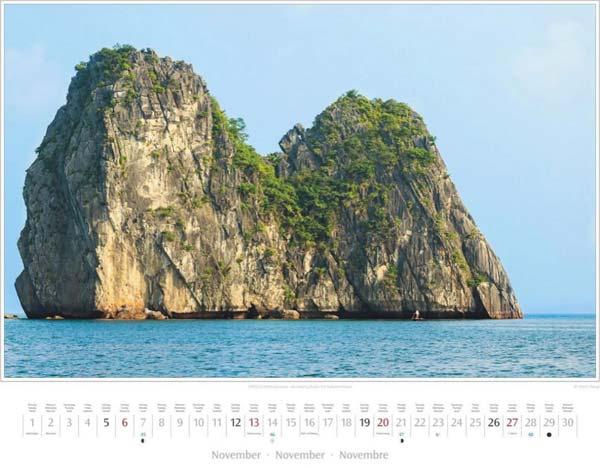 Monat November im Vietnam Kalender 2016 | UNESCO-Weltnaturerbe: Halong-Bucht | Foto Mario Weigt | Verlagshaus Würzburg/Stürtz