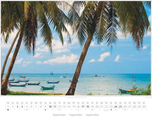Monat September im Vietnam Kalender 2016 | Strand Bai Truong (Long Beach) auf Phu Quoc | Foto Mario Weigt | Verlagshaus Würzburg/Stürtz