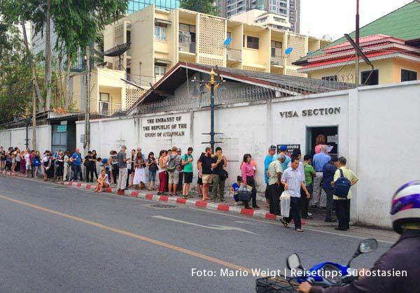 Visum für Myanmar (Burma) in Bangkok beschaffen |Überland von Thailand nach Myanmar (Burma, Birma) | Grenze Thailand - Myanmar (Burma) | Mae Sot - Myawaddy