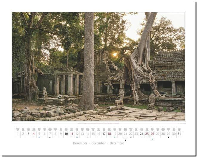 Monatsblatt Dezember: Kalender 2016 Südostasien | Fotos Mario Weigt | Verlagshaus Würzburg / Stürtz
