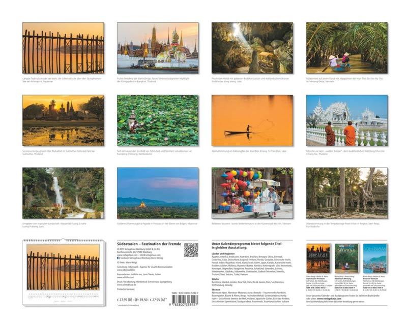 Motivübersicht: Südostasien Kalender 2016 | Fotos Mario Weigt | Verlagshaus Würzburg/Stürtz