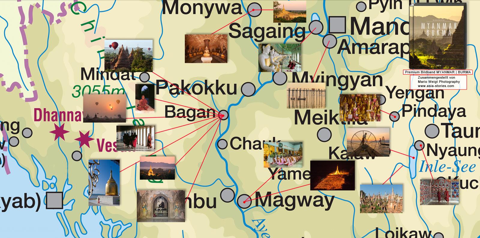 Karte Myanmar.Neu Landkarte Orte Myanmar Burma Mit Fotos Myanmar Reisetipps