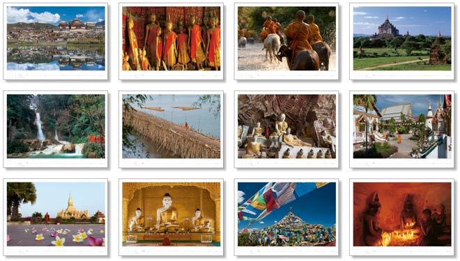 Alle Motive vom Kalender 2016 IM REICH DES BUDDHA | Fotos Mario Weigt | WeitSicht Verlag München
