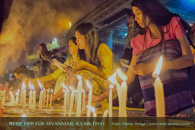 Reisetipp für Myanmar (Burma) - Goldener Felsen Kyaikhtiyo, Hotels, Preise und Anfahrt