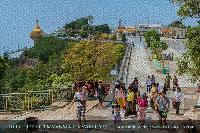 Reisetipp für Myanmar (Burma) - Goldener Felsen Kyaiktiyo, Hotels, Preise und Anfahrt