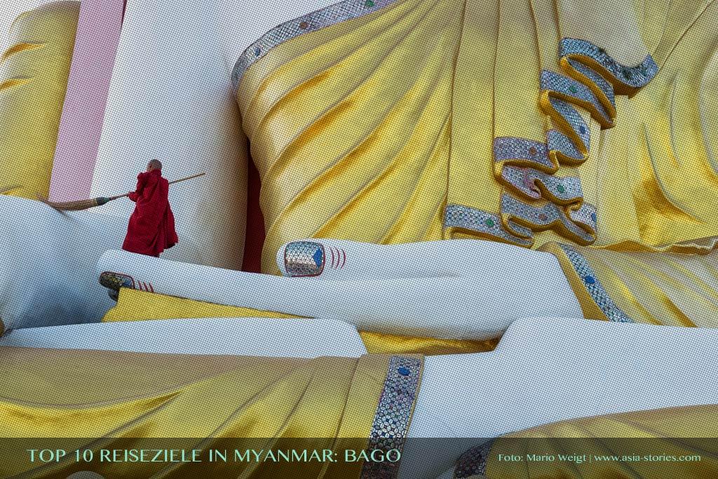 Reisetipp Kyaikpun-Pagode in Bago von der TOP 10 Liste für Reiseziele und Orte in Myanmar (Burma), die jeder Reisende auf jeden Fall besuchen sollte.