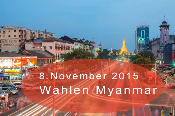 Wahl in Myanmar (Burma) am 8.November 2015 | Sule-Pagode in Yangon