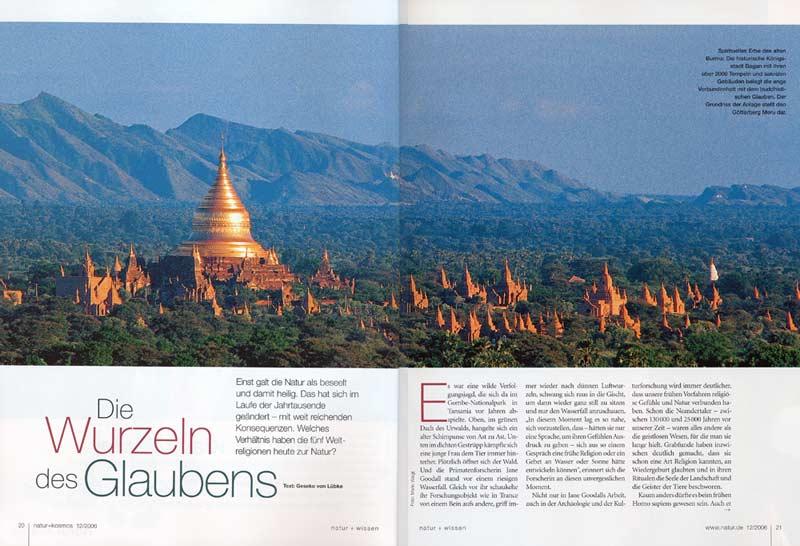 Veröffentlichung im Magazin Natur | Artikel: Myanmar (Burma) - Die Wurzeln des Glaubens | Foto: Mario Weigt