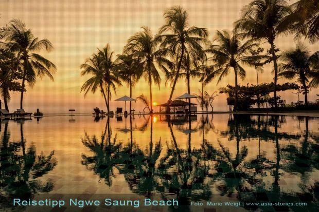 Strände in Myanmar (Burma) | Reistipps für den Ngwe Saung Beach | Swimmingpool vom Aureum Palace Resort