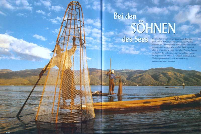 Veröffentlichung im Magazin Terra | Artikel mit dem Thema Myanmar (Burma): Bei den Söhnen des Sees | Text und Fotos: Mario Weigt und Uwe Dürigen