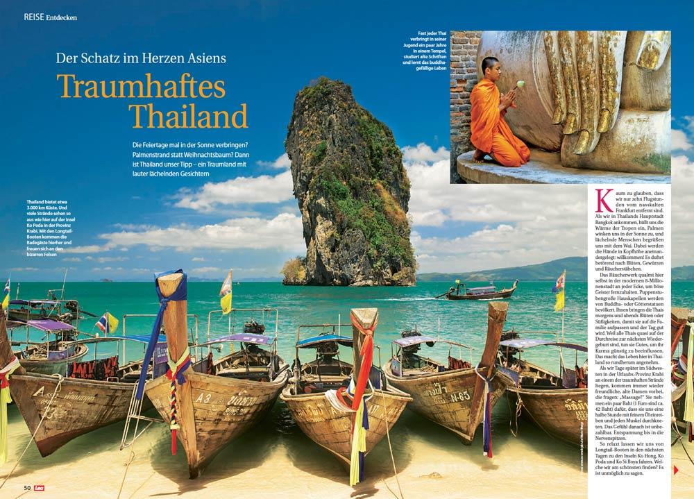 Veröffentlichung | Artikel: Traumhaftes Thailand - Der Schatz im Herzen Asiens | Fotos: Mario Weigt