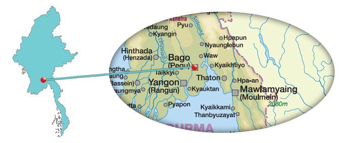 Myanmar - Karte von Bago