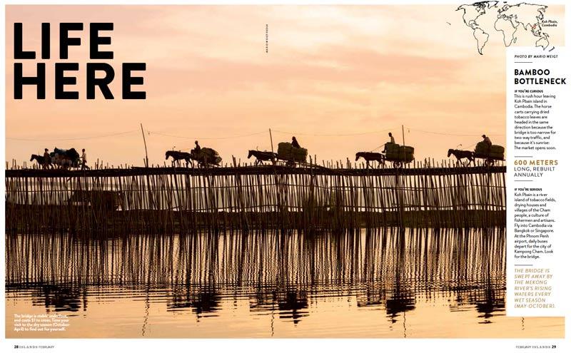 Veröffentlichung im Magazin ISLANDS | Artikel: LIFE HERE | Foto: Mario Weigt