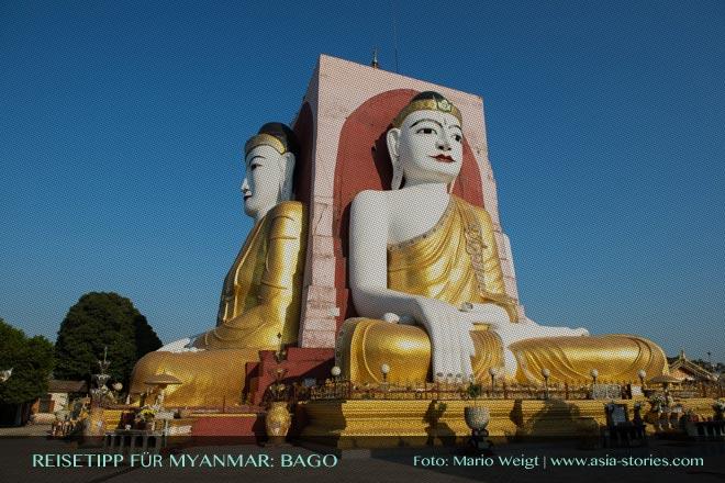Reisetipps Myanmar (Burma): Ausflug zu den vier Buddha-Statuen in der Kyaikpun-Pagode in Bago