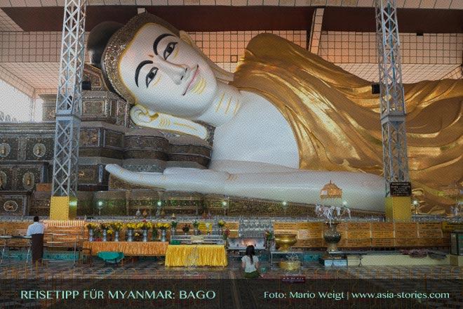 Reisetipps Myanmar (Burma): Ausflug zum liegenden Buddha in der Shwethalyaung Paya in Bago