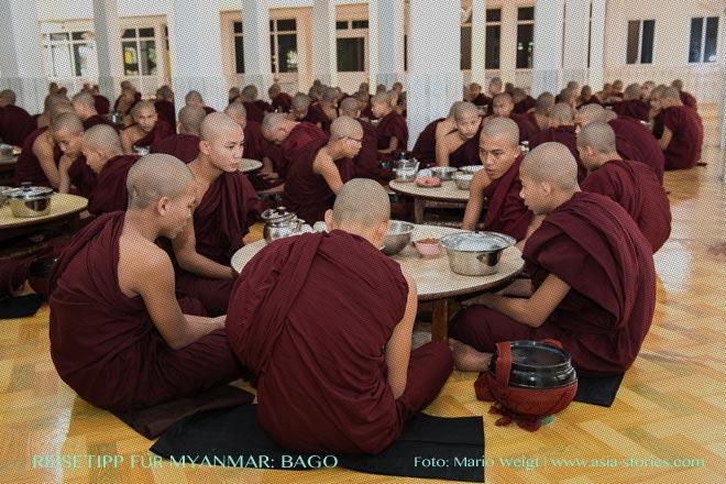 Reisetipps Myanmar (Burma): Ausflug zur Mönchsspeisung in Bago
