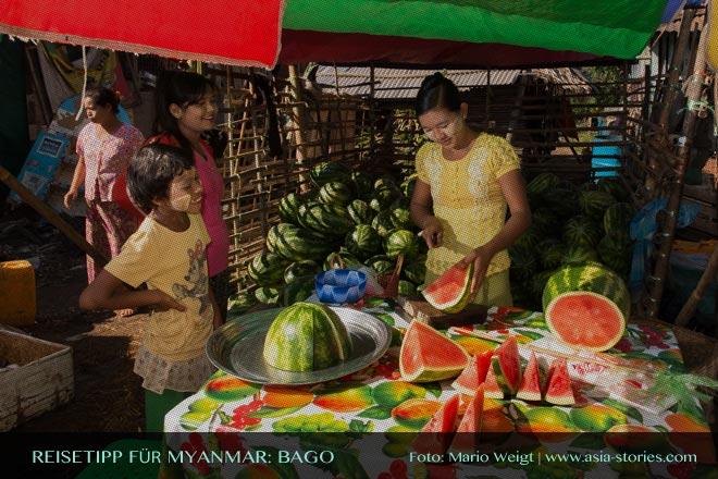 Reisetipps Myanmar (Burma): Morgenmarkt in Bago