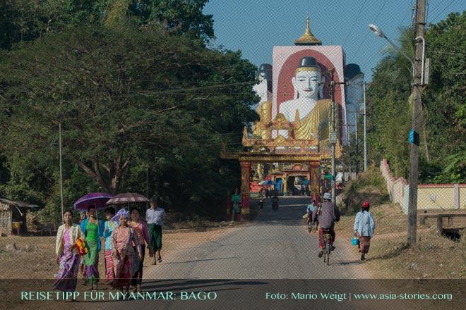 Reisetipps Myanmar (Burma): Ausflug zu den vier Buddha-Statuen in der Kyaikpun-Pagode in Bago | Foto: Mario Weigt | Premium Bildband MYANMAR | BURMA | Verlagshaus Würzburg/Stürtz