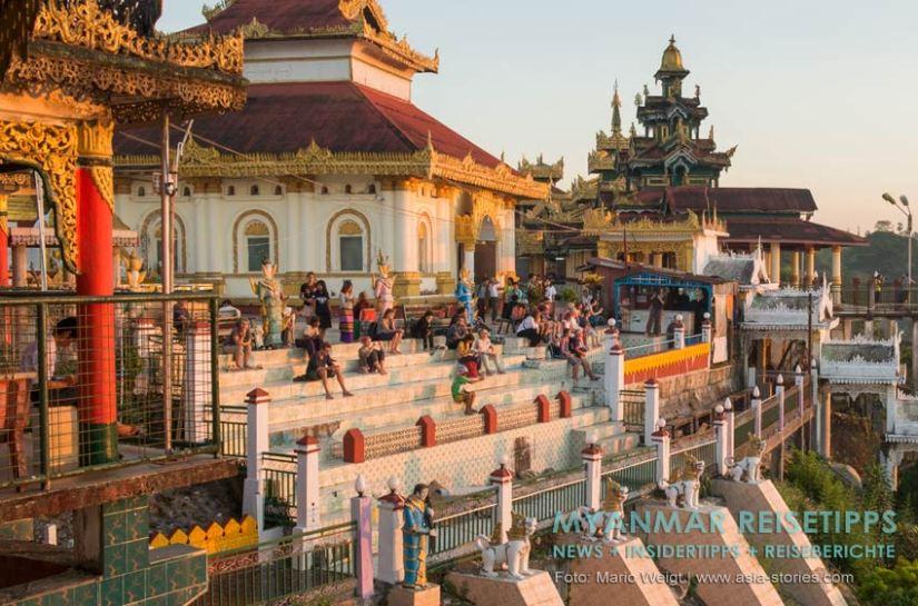 Myanmar Reisetipps   Mawlamyaing (Mawlamyine)   Warten auf den Sonnenuntergang in der Pagode Kyaik Than Lan
