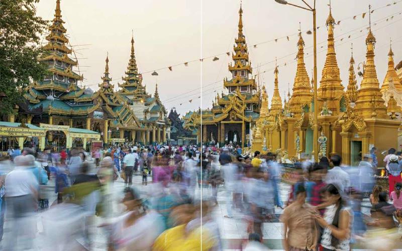Shwedagon-Pagode in Yangon | Premium Bildband MYANMAR | BURMA | Fotos: Mario Weigt | Verlagshaus Würzburg / Stürtz