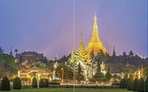 Shwedagon-Pagode im Abendlicht | Premium Bildband MYANMAR | BURMA | Fotos: Mario Weigt | Verlagshaus Würzburg / Stürtz