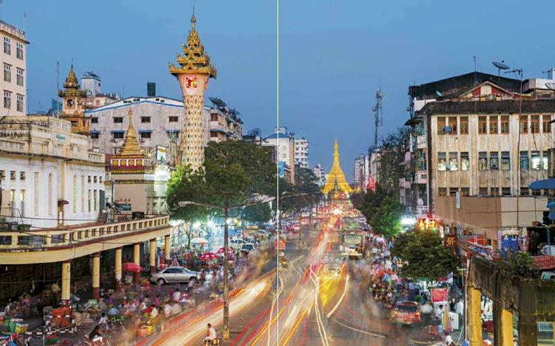 Sule Pagode in Yangon | Premium Bildband MYANMAR | BURMA | Fotos: Mario Weigt | Verlagshaus Würzburg / Stürtz