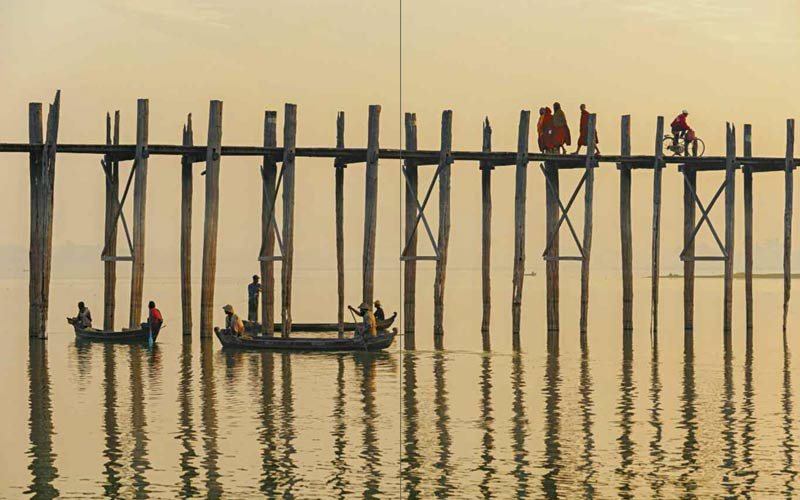 U-Bein-Brücke am Morgen | Premium Bildband MYANMAR | BURMA | Fotos: Mario Weigt | Verlagshaus Würzburg / Stürtz