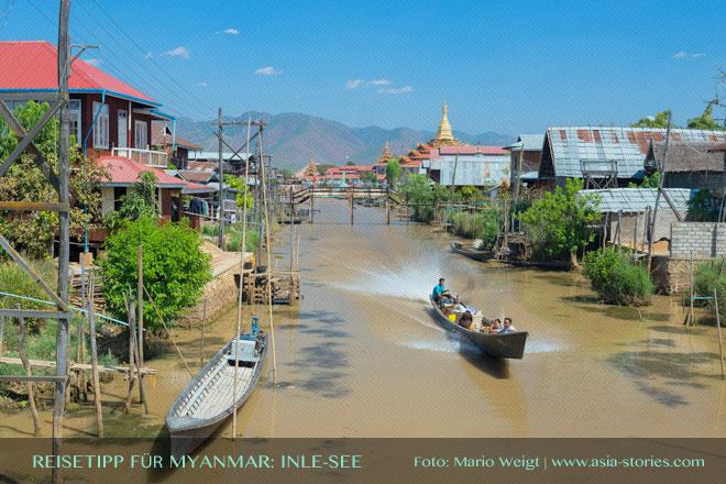 Reisetipps Myanmar (Burma): Bootstour auf dem Inle-See | Foto: Mario Weigt | Premium Bildband MYANMAR | BURMA | Verlagshaus Würzburg/Stürtz