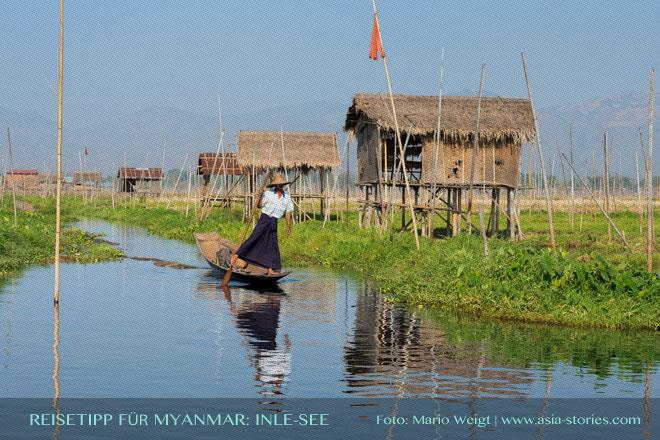 Reisetipps Myanmar (Burma): Einbeinruderer vom Vold der Intha auf dem Inle-See | Foto: Mario Weigt | Premium Bildband MYANMAR | BURMA | Verlagshaus Würzburg/Stürtz