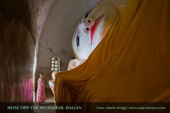 Reisetipps Myanmar (Burma): Betende Nonne in Bagan | Foto: Mario Weigt | Premium Bildband MYANMAR | BURMA | Verlagshaus Würzburg/Stürtz