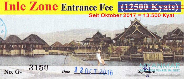 Myanmar - Ticket für den Inle-See
