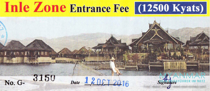 Reisetipps Myanmar | Ticket und Eintritt für den Inle-See