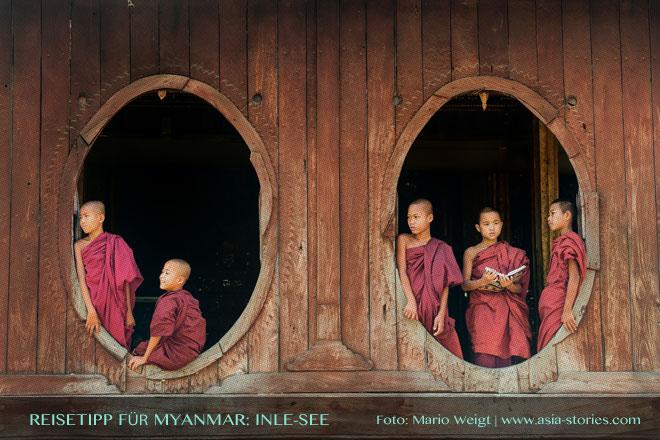 Reisetipps Myanmar (Burma): Kloster Shwe Yan Bye mit den ovalen Fenstern nahe Nyaungshwe | Foto: Mario Weigt