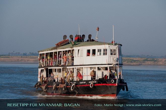 Reisetipps Myanmar (Burma): Mit der IWT-Fähre von Mandalay nach Bagan | Foto: Mario Weigt | Premium Bildband MYANMAR | BURMA | Verlagshaus Würzburg/Stürtz