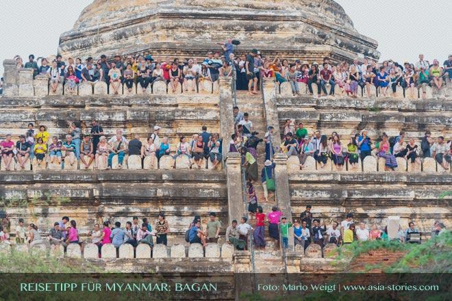 Reisetipps Myanmar (Burma): Touristen zum Sonnenuntergang in Bagan | Foto: Mario Weigt | Premium Bildband MYANMAR | BURMA | Verlagshaus Würzburg/Stürtz