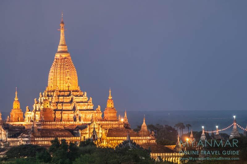 Myanmar Reisetipps | Bagan | Illuminierter Ananda-Tempel