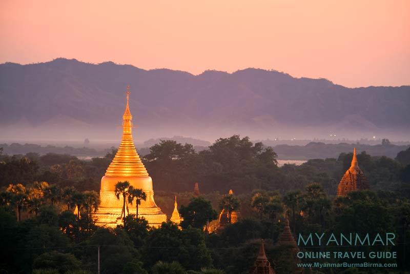 Myanmar Reisetipps | Bagan | Abendstimmung über der Tempelebene
