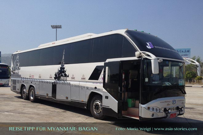 Reisetipps Myanmar (Burma): Anreise von Yangon nach Bagan | Foto: Mario Weigt | Premium Bildband MYANMAR | BURMA | Verlagshaus Würzburg/Stürtz