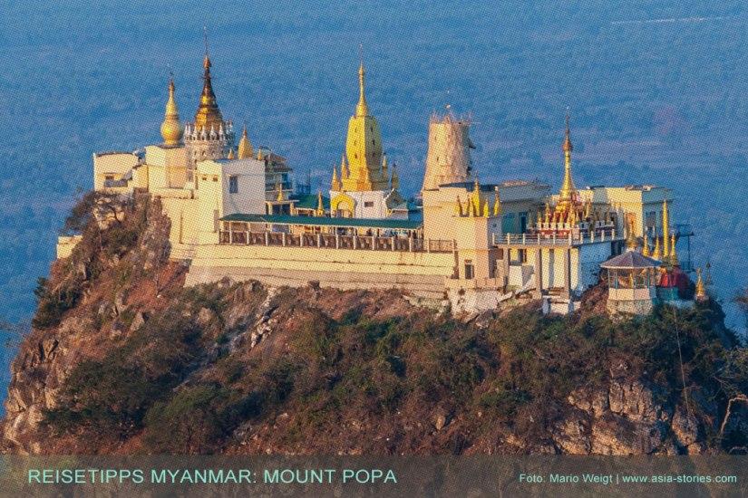 Reisetipp Myanmar: Mount Popa Taung Kalat