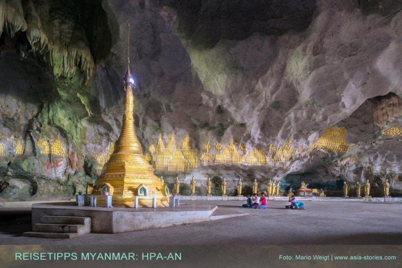 pa-an und Umgebung: Orte in Myanmar (Burma), die jeder Reisende auf jeden Fall besuchen sollte.