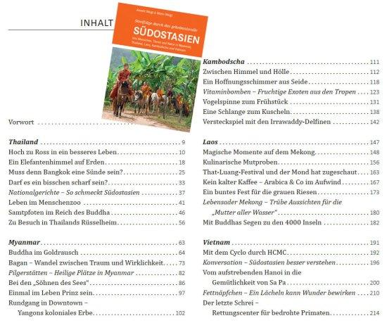Inhalt: Streifzüge durch das geheimnisvolle SÜDOSTASIEN | Reportagen aus Myanmar, Thailand, Vietnam, Kambodscha und Laos