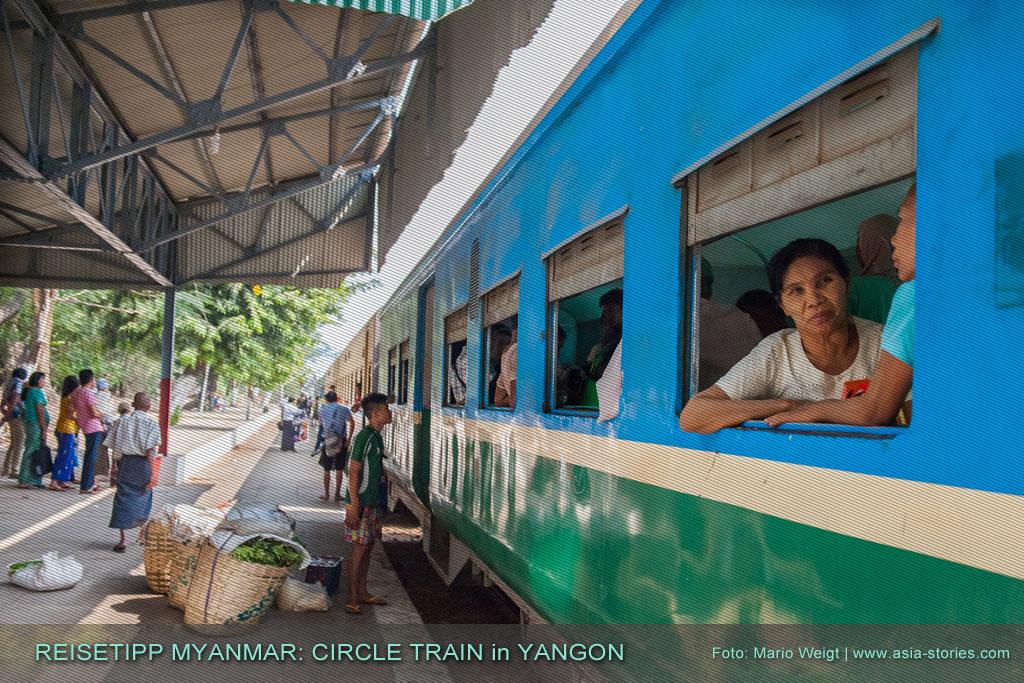 Myanmar Reisetipps | Circle Train | Ringbahn in Yangon