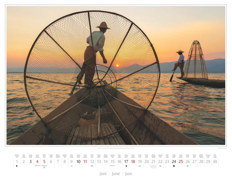Monat Juni vom Wandkalender 2017 Myanmar | Burma
