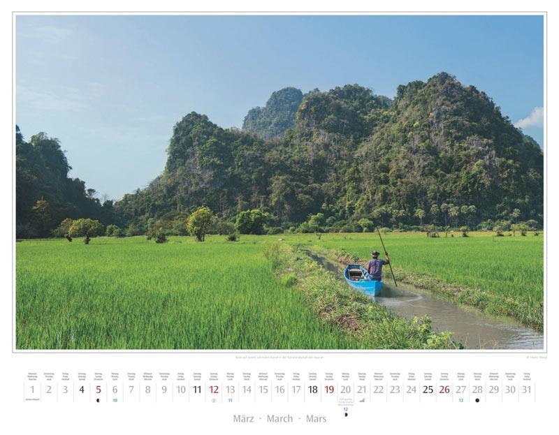 Monat März vom Wandkalender 2017 Myanmar | Burma