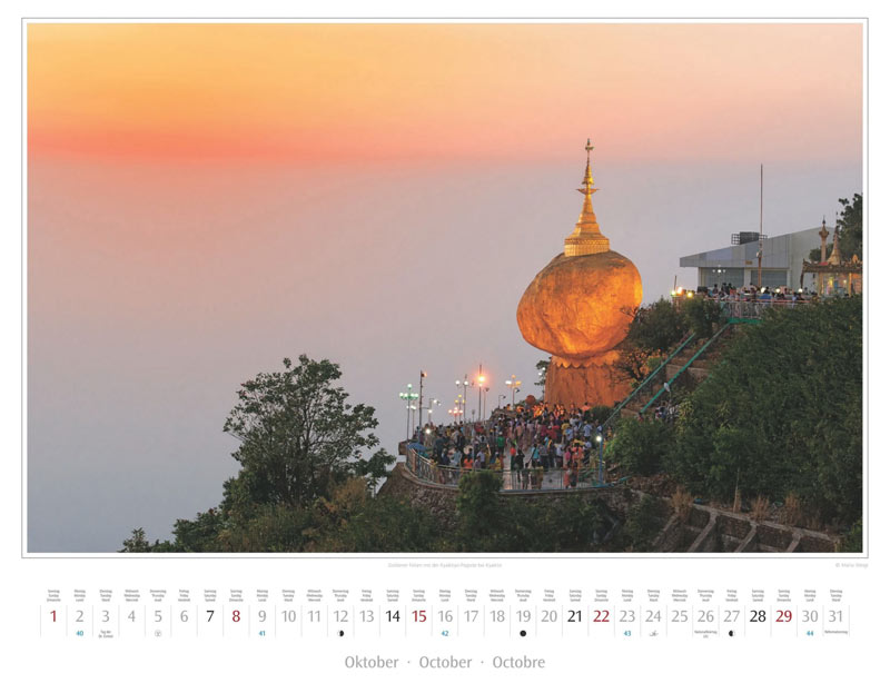 Monat Oktober vom Wandkalender 2017 Myanmar | Burma