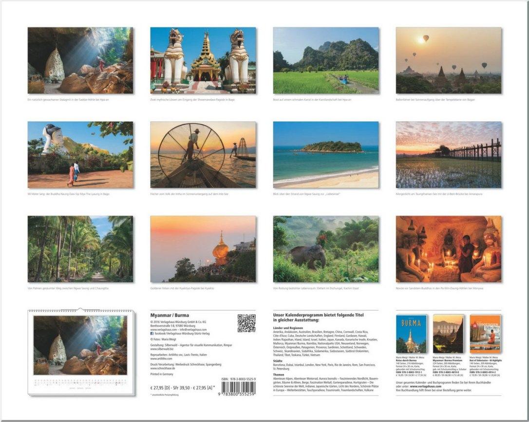 Alle Motive vom Wandkalender 2017 Myanmar | Burma