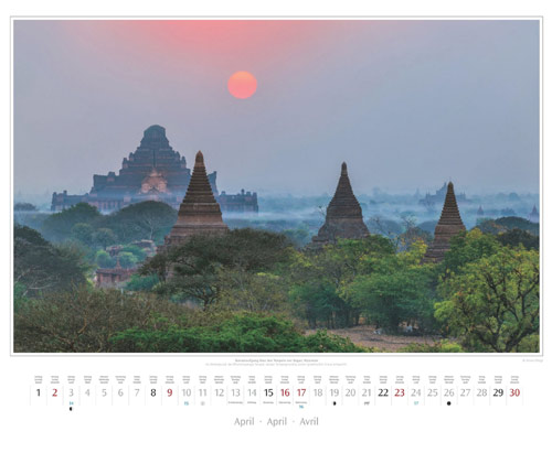 Monatsblatt April vom Wandkalender 2017 Südostasien | Foto: Mario Weigt