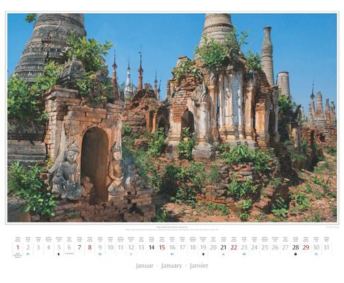 Kalenderblatt Januar vom Wandkalender 2017 Südostasien | Foto: Mario Weigt